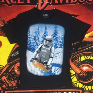 Star Wars Stormtrooper Snow Sledding Tee Shirt M